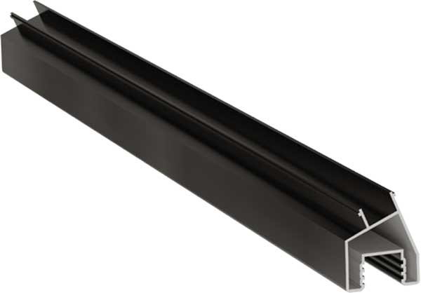 Aluminium Angled Post Infill Trim 157°